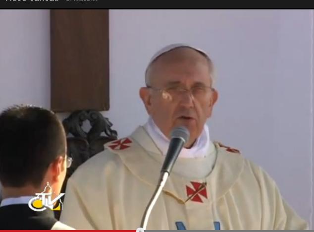 """Omelia di Papa Francesco nel Santuario di """"Nostra Signora ..."""