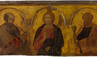 Pietro-Lorenzetti-Cristo-tra-i-Santi-Pietro-e-Paolo